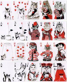 Kitten Club Playing cards, John Littleboy, 2006 I need these!!!!
