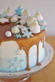 KakkuKatri: Winter Wonderland kakku Winter Wonderland, Panna Cotta, Pudding, Ethnic Recipes, Desserts, Food, Tailgate Desserts, Dulce De Leche, Deserts