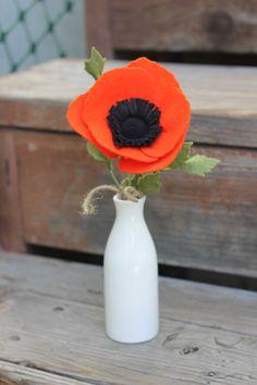 Simple Felt Poppy Bouquet by TheFeltFlorist on Etsy