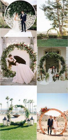 Circular wedding arch ideas #weddingideas #weddingdecor #weddingarch