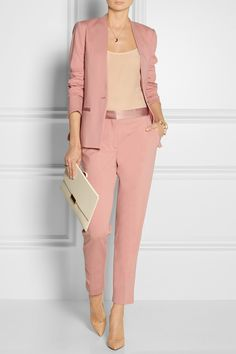 By Malene Birger - Brinda satin-trimmed stretch-jersey blazer Office Attire, Office Outfits, Work Attire, Casual Outfits, Office Uniform, Casual Suit, Business Outfit Frau, Business Outfits, Business Attire