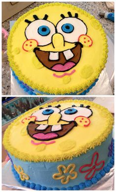 Sponge bob cake! #spongebobcake #nikijoycakes #buttercream