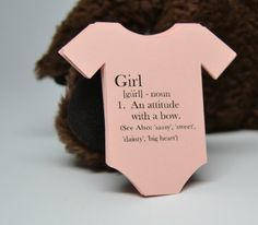 GIRL Baby Shower Tag / Baby Bodysuit Tag / What is a by MrOzNaps