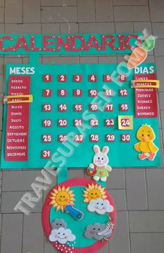 Read more about preschool crafts Classroom Charts, Classroom Calendar, Classroom Decor, Class Decoration, School Decorations, Preschool Crafts, Crafts For Kids, Educational Crafts, Primary Education