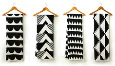 Black and White Graphic Throw Blankets by Happy Habitat