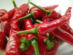 Red like hot peppers!