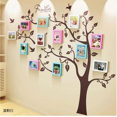 Unique family tree photo frame and decal,Unique family tree photo frame and decal - WallDecal Frames are decorative accessories that surround the moments you immortalize. Family Tree Picture Frames, Family Tree With Pictures, Family Tree Photo, Picture Wall, Wall Pictures, Family Wall Decor, Family Tree Wall, Tree Wall Art, Frames On Wall