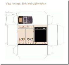 Cow kitchen Sink n dishwasher Sur ce site il y a beaucoup d'imprimé meuble