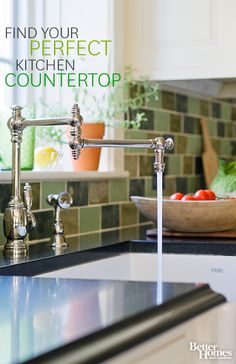 Discover the kitchen countertop that is best for your kitchen and your budget: http://www.bhg.com/kitchen/countertop/?socsrc=bhgpin092513countertops