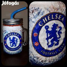 Kínál Egyedi kézműves füles bögre és szívószálas pohár 2 in 1. Chelsea: Egyedi kézműves füles bögre és szívószálas pohár 2 in 1. Ajándék Chelsea raj...