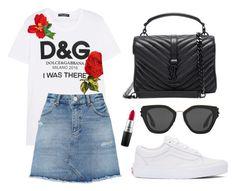 """Sin título #374"" by fweakydarcy on Polyvore featuring moda, Dolce&Gabbana, Miss Selfridge, Vans, MAC Cosmetics, Prada y Yves Saint Laurent"