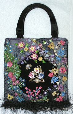 I ❤ crazy quilting . . . Pansy Purse - Kitty and Me