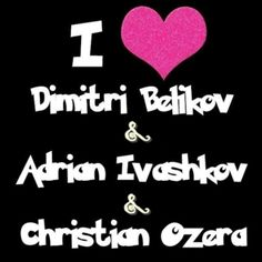 I will marry Dimitri because he is hot, Adrian because he is sweet, and Christian because of his dark sense of humor