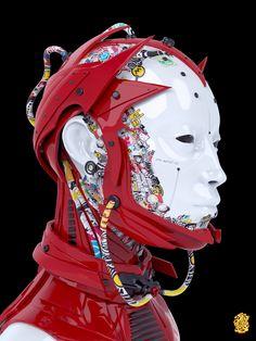 Cyborg, Sergey OnePixelHero on ArtStation at https://www.artstation.com/artwork/mGoVd
