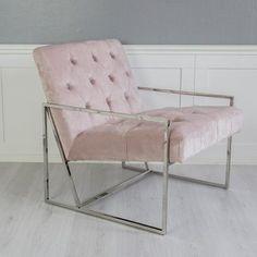 Empire rosa fåtölj modern silverram sammetsfåtölj sammet lyxig