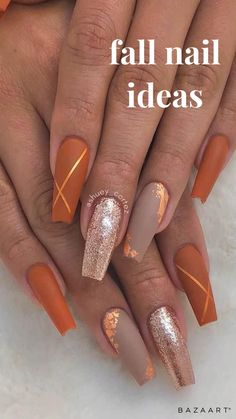 Brown Acrylic Nails, Simple Acrylic Nails, Best Acrylic Nails, Christmas Acrylic Nails, Autumn Nails Acrylic, Brown Nails, Aycrlic Nails, Swag Nails, Coffin Nails
