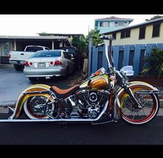 Softail Deluxe. Done chicano style