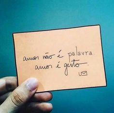 Amor é gesto