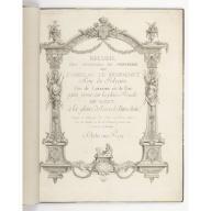 Recueil des Ouvrages en Serrurerie...sur la place Royale de Nancy, Jean Lamour, 1698-1771