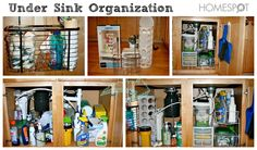 Use organizers to increase space under the sink. Under Sink Organization, Under Sink Storage, Sink Organizer, Organization Station, Kitchen Organization, Storage Organization, Locker Storage, Organizers, Storage Ideas