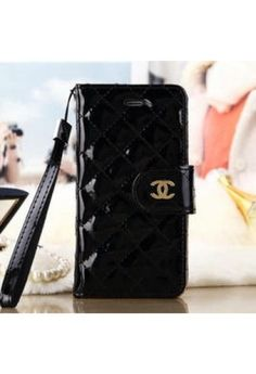 Coque Cuir peindre iPhone 6 Chanel Coco,Housse iPhone 6 4.7-noir