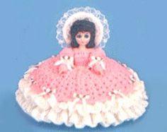 Free Pillow Dolls To Crochet | Peach Blossom Crochet Pillow, Bed Doll Pattern Fibre Craft FCM196