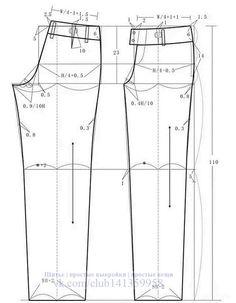 Шитье | простые выкройки | простые вещи Sewing Pants, Sewing Clothes, Diy Clothes, Pants Pattern Free, Jacket Pattern, Dress Sewing Patterns, Clothing Patterns, Bodice Pattern, Pola Rok