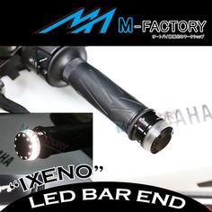 Fit Universal Kawasaki IXENO White Riding LED Light Billet Black Bar Ends   Vehicle Parts & Accessories, Motorcycle Parts, Handlebars, Grips & Levers   eBay!
