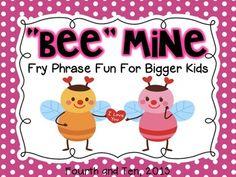 Bee Mine: Fry Phrase Fun for Bigger Kids Fluency Games, Reading Fluency, Reading Skills, Teaching Reading, Teaching Ideas, Content Media, Word Work, Third Grade, Fourth Grade