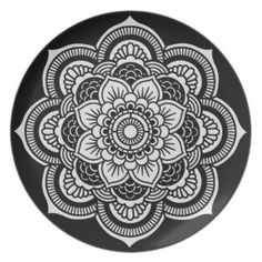 Flower of Life Sacred Geometry Mandala Plate