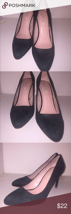 Hunter green suede pumps These timeless classics are a dark hunter green and are 2.5 inches tall. Zara Shoes Heels