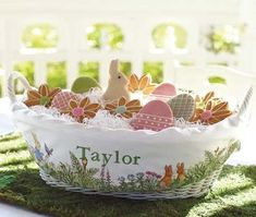 easter basket made of fabric