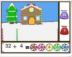 """""""Happy holidays"""" (Divisiones de Navidad) """"Happy holidays"""" es un juego, de fun4thebrain.com, en el que, para componer un bonito paisaje navideño, es necesario acertar en el resultado de divisiones mentales. Con tres niveles de dificultad para que puedan jugar niños dede 2º nivel de Educación Primaria (Iniciación a la división) hasta niveles posteriores de Primaria."""