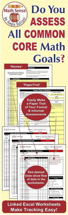 Grade 7 Common Core Math EXCEL Goal Tracker Spreadsheet with Paper - printing excel spreadsheets