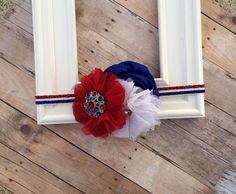 Fourth of July Headband - Red White Blue - Patriotic - Memorial Day - Labor Day - Military - Army on Etsy, $10.95