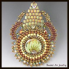 Indian Summer Beaded Beadwoven Beadwork by beadedartjewelry, $268.00