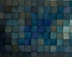Gran arte de pared de madera, arte monocromático en azul, nuevos diseños de 2017, difusor de sonido acústico