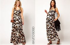 Super Soft & Comfy Make The ASOS Curve Maxi Dress In Animal Print A Great Choice!