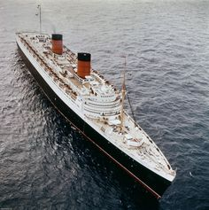 The Cunard liner RMS Queen Elizabeth at sea