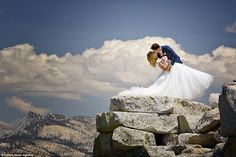 Photographer Brian Ruebs at Yosemite -The dizzy heights of marriage: This wedding photographer really did go the extra mile to g...