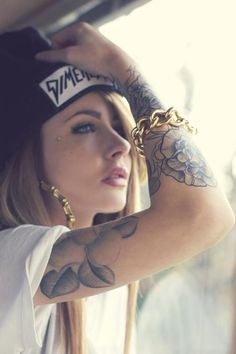 ink hipster girl #ink #tattoo #hipster #girl