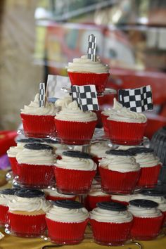 Cars Party Theme Cupcakes