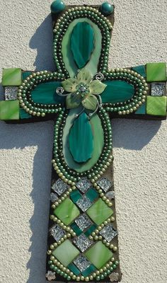 Mosaic Cross  Changed by BrokenBeautyMosaics on Etsy, $85.00
