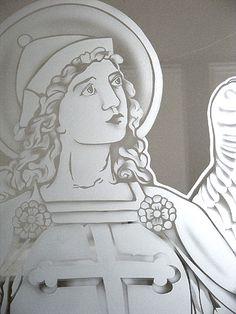 Sacred Art - Glass Work - The Studio of John the Baptist : sacredart.co.nz Blessed Virgin Mary, John The Baptist, Sacred Art, Glass Art, Cathedral, Aurora Sleeping Beauty, Studio, Disney Princess, Disney Characters