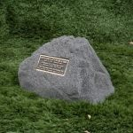 "Recognition rocks for outdoor cast plaques. Great for donor recognition and memorial gardens. Molded from actual bolders found in the mountains, these incredibly realistic rocks are manufactured from cast stone to withstand 9,000 psi of pressure and a variety of climates with minimal maintenance and care. Included is a cast bronze plaque measuring 7 1/4"" x 3 1/2""."