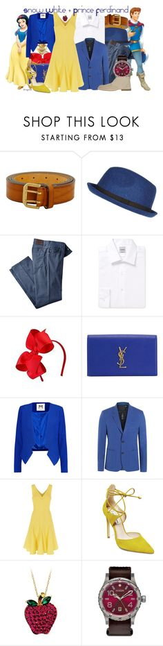 """""""Snow White & Prince Ferdinand (Snow White and the Seven Dwarfs)"""" by claucrasoda ❤ liked on Polyvore featuring Disney, Dsquared2, River Island, Hardy Amies, Yves Saint Laurent, Milly, Marc by Marc Jacobs, Fenn Wright Manson, Steve Madden and Nixon"""
