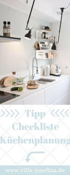 Tipps zur Küchenplanung, Checkliste neue Küche, grifflose Küche, Ikea Küche, weiße Küche, offener Kochbereicht