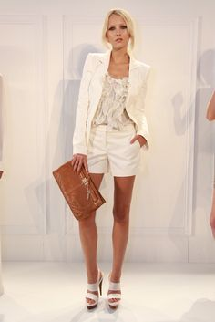 """Rachel Zoe RTW Spring 2012...""""SURE- if I wasn't 5 ft..."""" white is so clean!"""
