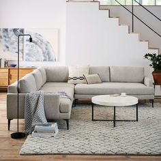 Andes L-Shaped Sectional - Stone (Twill) $2997 delivered