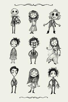 Você reconhece todos esses personagens? Se liga no poster O Estranho Mundo de Tim e como ele vai ficar incrível na sua parede.